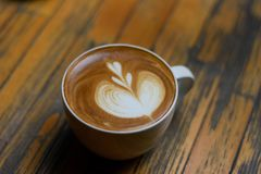 Cukierniany Latte Fotografia Royalty Free