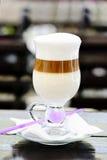 Cukierniany latte Zdjęcia Royalty Free
