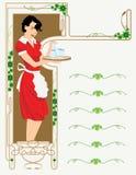 cukierniany menu royalty ilustracja