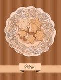 Cukierniany menu projekt ilustracja wektor
