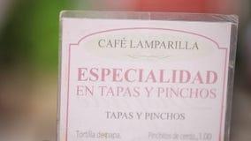 Cukierniany menu w hiszpańskim zbiory