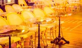 Cukierniany plenerowy stołu zbliżenie Zdjęcie Stock