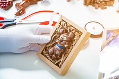 Cukiernicza kocowanie czekolada obrazy royalty free