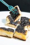 Cukieru i masła grzanka przeciw tłu Zdjęcie Royalty Free