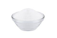Cukieru zastępczy xylitol, szklany puchar z brzoza cukierem Obraz Royalty Free
