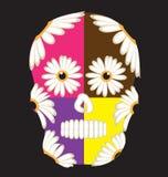 Cukrowa Meksykanin czaszka Zdjęcia Royalty Free