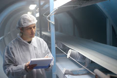 Cukrowa Rafineria - Kontrola Jakości Inspektor Obrazy Royalty Free