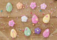 Cukrowe dekoracje dla Easter fotografia stock