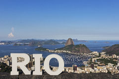 Cukrowego bochenka góra dniem, Rio De Janeiro, Brazylia obrazy royalty free