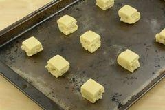 Cukrowego ciastka sześciany Zdjęcia Stock