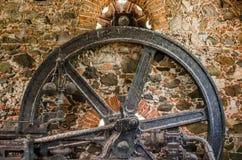 Cukrowego młynu Parowozowy koło Obrazy Royalty Free