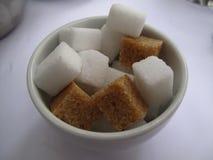 Cukrowi sześciany, gomółka cukier Obrazy Stock