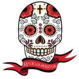 Cukrowy czaszki i faborku dzień nieboszczyk Royalty Ilustracja