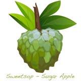Cukrowy Jabłczany wektor Zdjęcie Stock