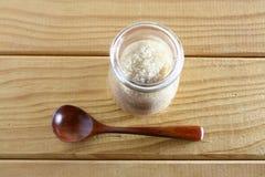 Cukrowy słój i łyżka Fotografia Stock