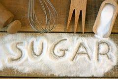 Cukrowy słowo z tłem obrazy royalty free