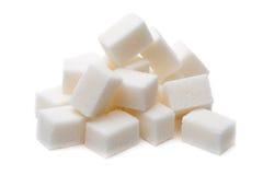 Cukrowy sześcian odizolowywający na białym tle Zdjęcie Stock
