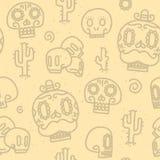 Cukrowych czaszek wektoru bezszwowy wzór Zdjęcie Stock