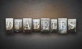 Cukrzycy Letterpress zdjęcia stock