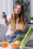 Cukrzyk z dobrym glikoza poziomem zdjęcia stock