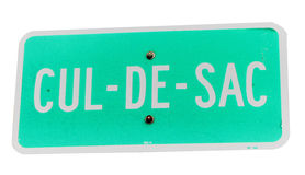 Cul-de-sac sign Stock Photos