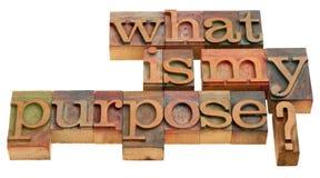 Cuál es mi propósito Fotografía de archivo libre de regalías