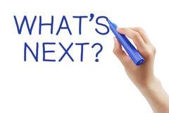 ¿Cuál es siguiente? Foto de archivo