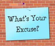 Cuál es sus medios de la excusa no abandonan y perseverencia Fotografía de archivo