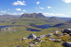 Cul Mor. From Stac Pollaidh, Scottish Highlands Stock Photos