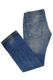 Culasses bleues pliées Images stock