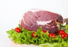 Culatello com tomates e salada Imagens de Stock Royalty Free