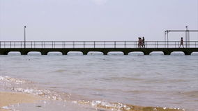 Culatra island port footpath. In Algarve. Portugal Stock Images