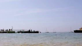 Culatra island port, located in Algarve. Portugal stock footage
