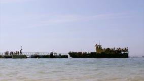 Culatra island port, located in Algarve. Portugal stock video