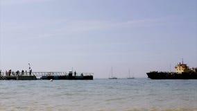 Culatra island port (Timelapse), located in Algarve. Portugal Stock Image