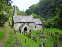 Small church in wooded valley Royalty Free Stock Image