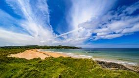 Culdaff strand, Co Donegal arkivfoto