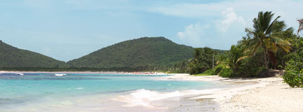 Culebra Island Flamenco Beach. The amazing clear blue Caribbean water and white sands of Flamenco beach on the Puerto Rican island of Culebra Stock Image