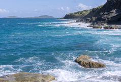 Culebra north coast Stock Photos