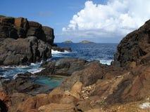 culebrita海岛 免版税库存照片