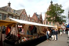 Culemborg, εβδομαδιαία αγορά στοκ φωτογραφία με δικαίωμα ελεύθερης χρήσης