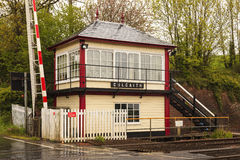 Culgaith Signal Box and Level Crossing Royalty Free Stock Photos