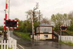 Culgaith Signal Box and Level Crossing Stock Images