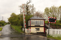 Culgaith Signal Box and Level Crossing Royalty Free Stock Images