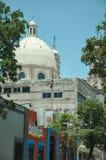 07/07/2018, Culiacan, Sinaloa, Meksyk: Katedra kapitał, haniebny leka centrum i dom el chapo guzm Culiacan, Sinaloas, i obraz stock