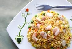 Culinária asiática - arroz fritado Fotos de Stock Royalty Free