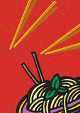 Culinária chinesa Ilustração do Vetor