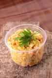 Culinária chinesa - arroz fritado com carne e papper Fotografia de Stock Royalty Free