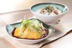 Culinária cozinhada da galinha do estilo chinês foto de stock