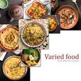 Culinária de países diferentes Foto de Stock